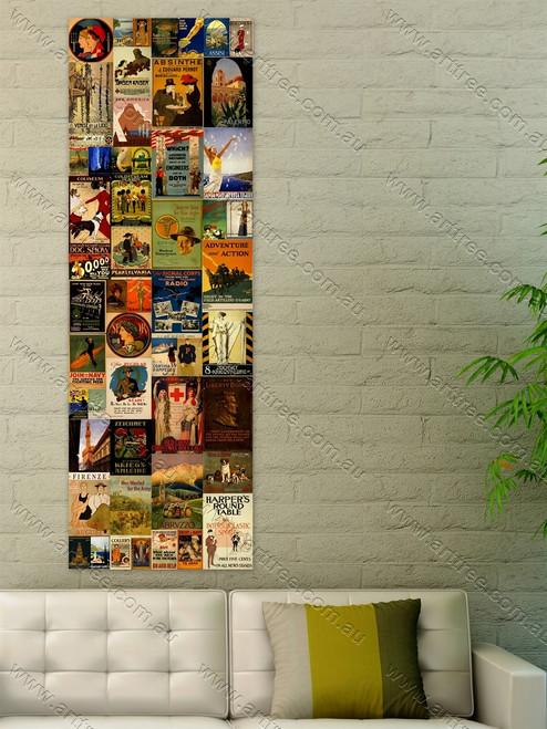 Coliseum Vintage Poster Collage
