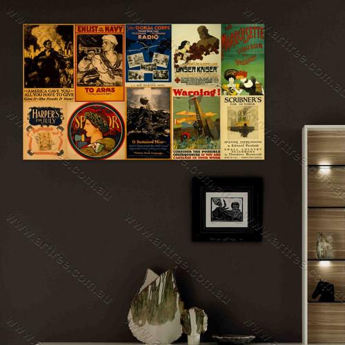 Scribner's Vintage Poster Collage