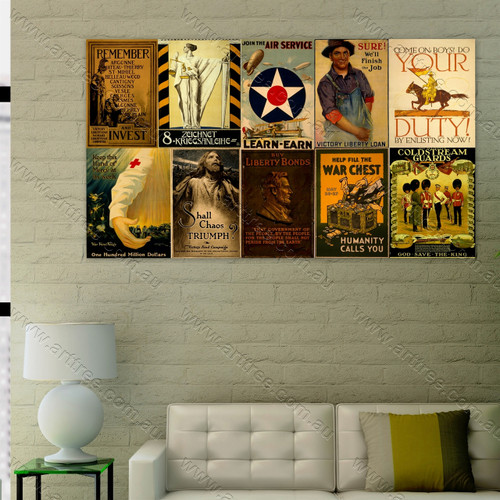 War Chest Vintage Poster Collage