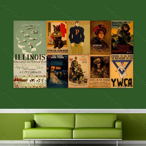 Karama Vintage Poster Collage