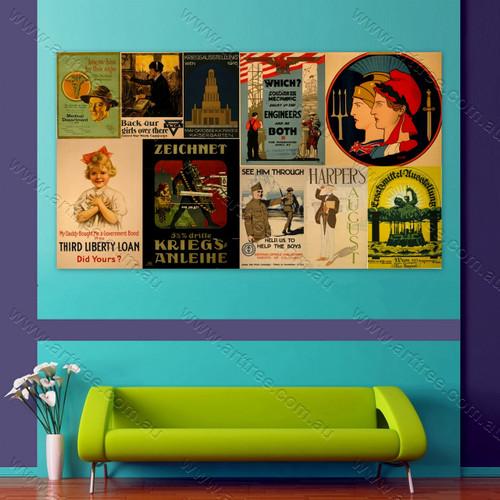 Zeichnet Vintage Poster Collage