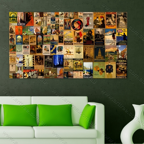 The Regular Vintage Poster Collage