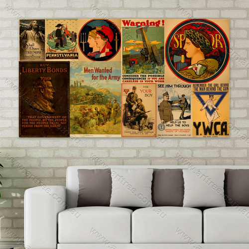 Pennsylvania Vintage Poster Collage