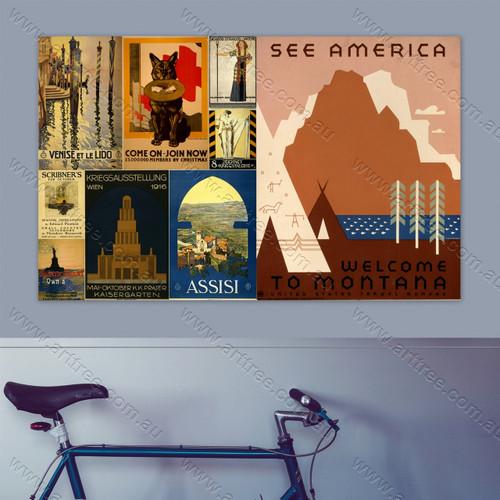 Venise Et Le Lido Vintage Poster Collage
