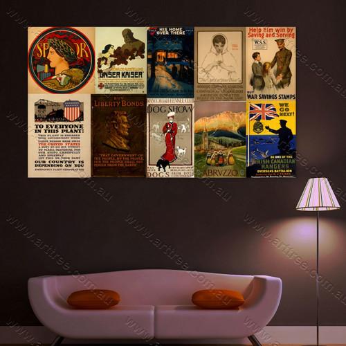 We Go Next Vintage Poster Collage