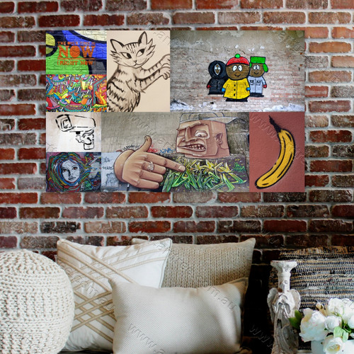 Banana Graffiti Collage