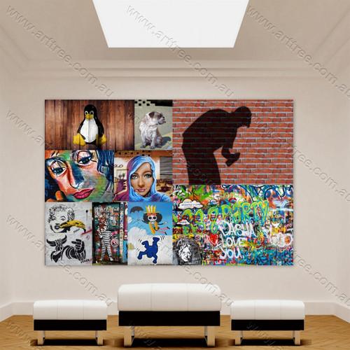 Love Jesus Street Art Collage