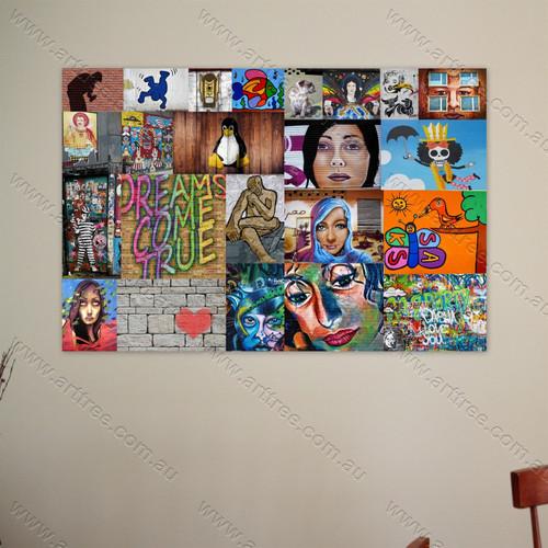 Penguin Street Art Collage