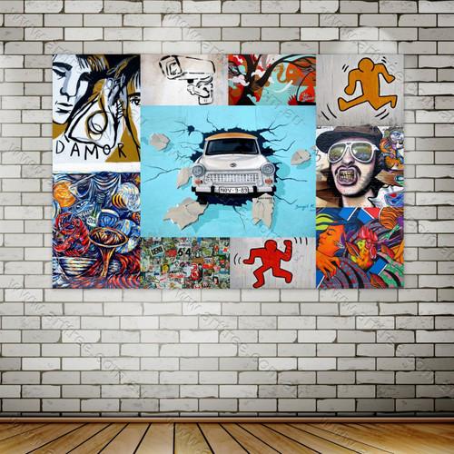 Scrap Street Art Collage
