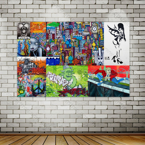 YAAM Urban Graffiti Collage