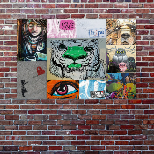 Owl Graffiti Collage