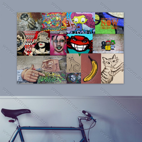 Right Now Graffiti Street Art Collage