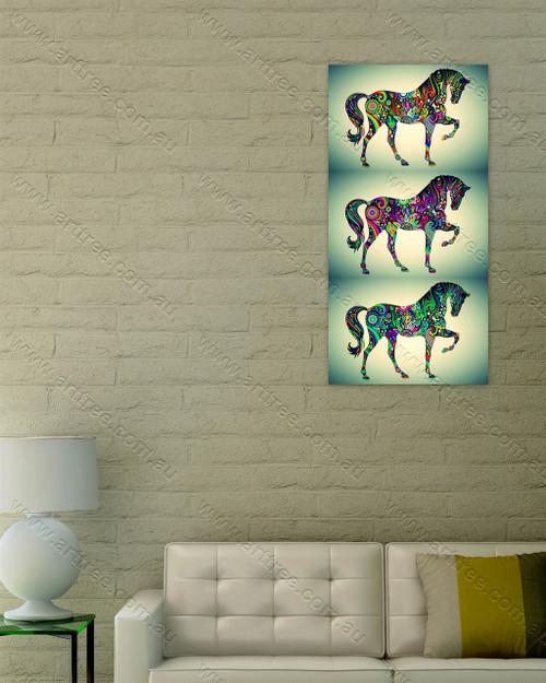 Vintage Multicolor Horse