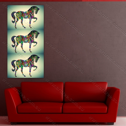 Panoramic Horse Pop Art