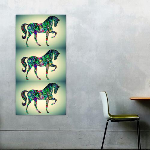 Panoramic Horse Pop Art 02
