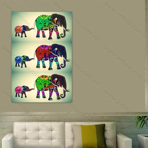 Baby Elephant Vintage Collage