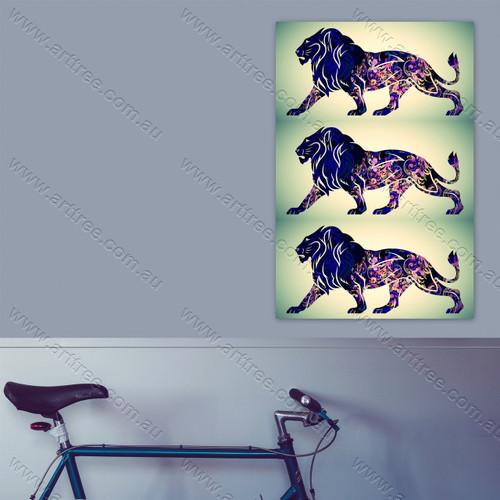 Classic Vintage Blue Lion