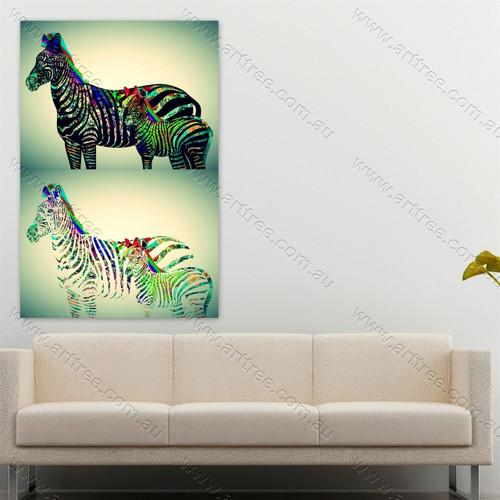 Colorful Zebra Art