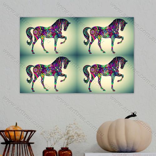 Pinkish Horse Pattern
