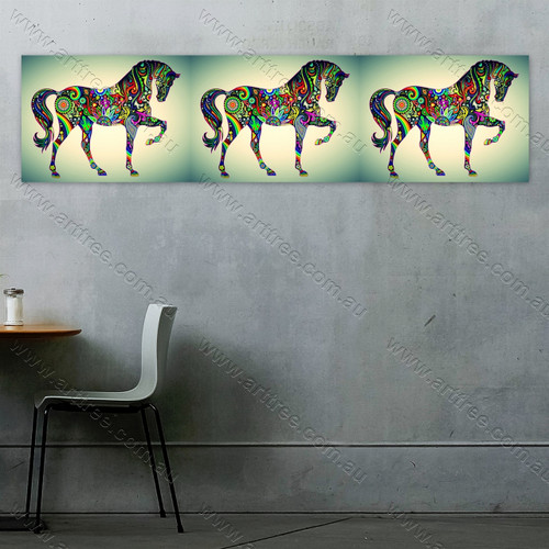 Horse Art Print Collage