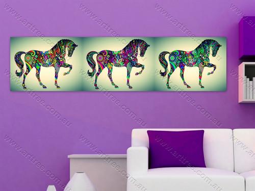 Rainbow Design Horse