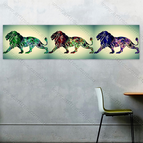 Panoramic Lion Animal Art