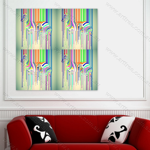 Colorful Zebra Pop Art Design