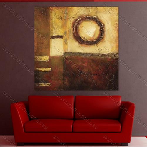 Brown Circle Oil Painting
