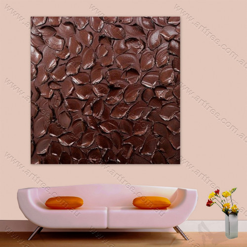 Dark Brown Texture Painting