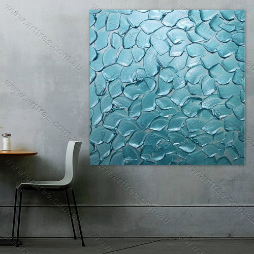 Blue Texture Leaves