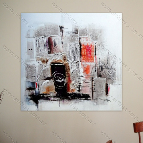 Grey Red Painting