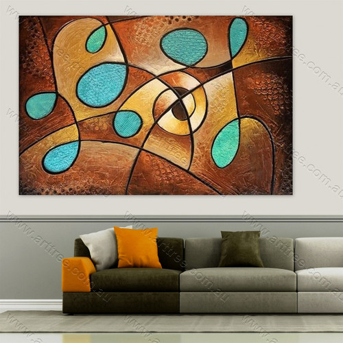 Abstract Blue Brown Art