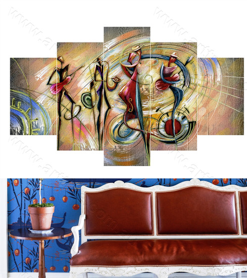 Abstract Band Design Canvas Print