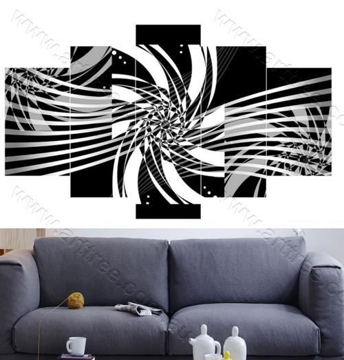 Black & White Line Canvas Print