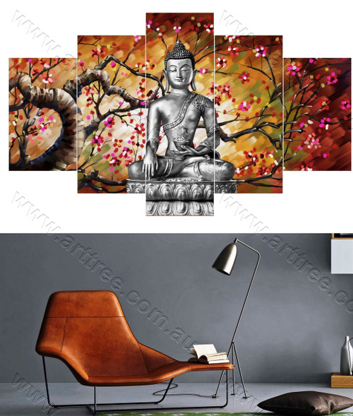 Buddha Floral Artwork