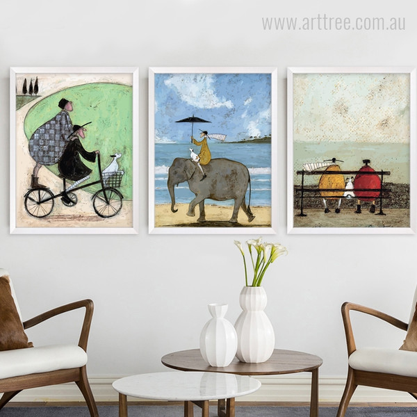 Happy Family Vintage Print For Living Room