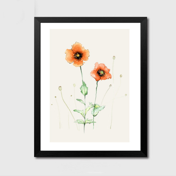Minimalist Nature Nordic Flower Design