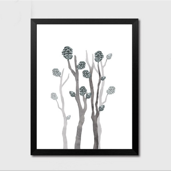 Minimalist Nature Nordic Abstract Forest Tree