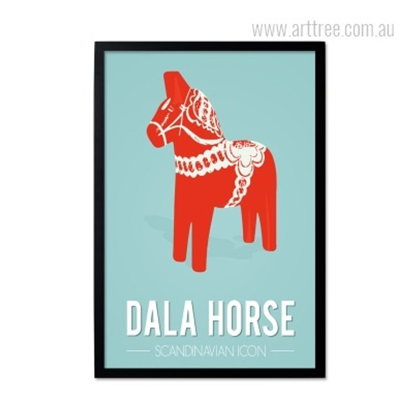 Dala Horse Scandavian Icon Quote