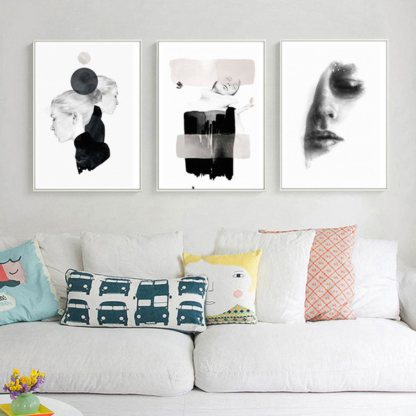 Abstract Beauty Fashion Women Models Canvas Print