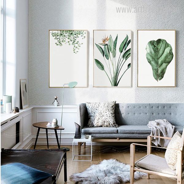 Green Climber, Bird of Paradise, Oak Leaves Wall Art Prints