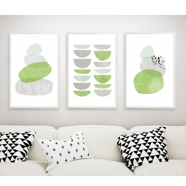 Green Bowl & Rocks Canvas Prints