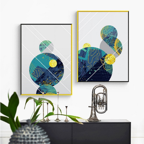 Abstract Geometric Lines Planet & Galaxy Design