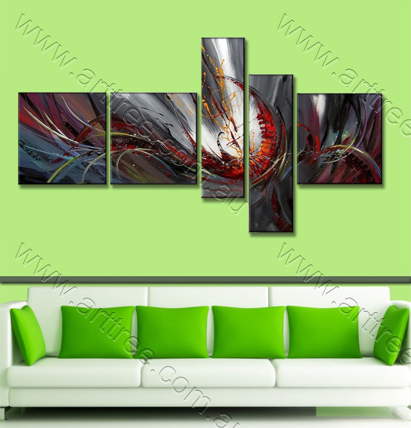 Colorful Cyclone Pattern Abstract Oil Painting