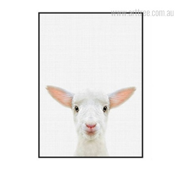 Kawaii Sheep Animal Cute Photo Canvas