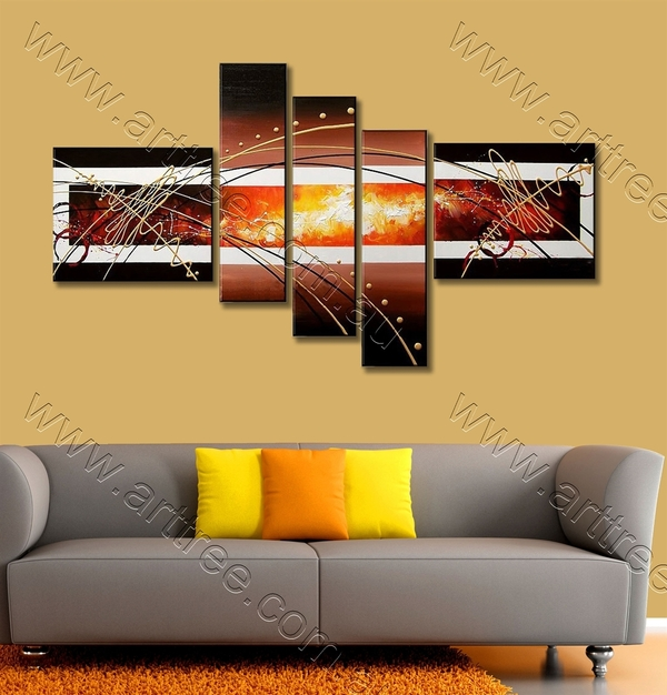 Burning Pattern Abstract Oil Painting