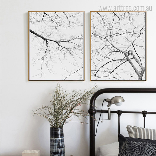 Black and White Tree Branch Wall Hanging
