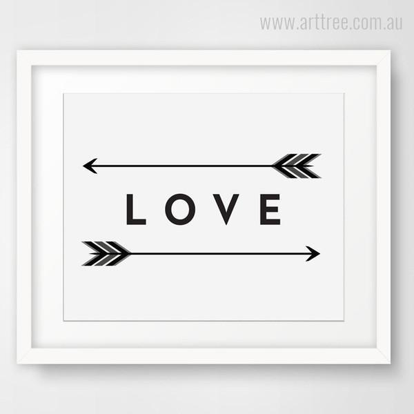 Love Arrows Wall Art Decor