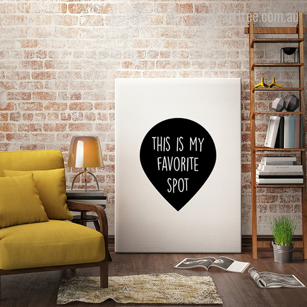 This is My Favorite Spot Black and White Words Wall Art