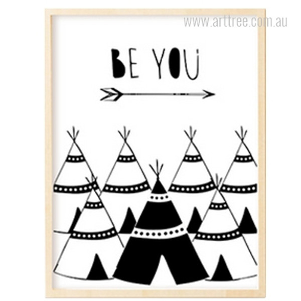 Be You Words, Arrow, Tents Artwork for Kids